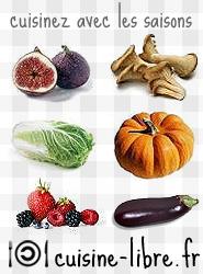 Cuisinez avec les saisons sur Cuisine-libre.org